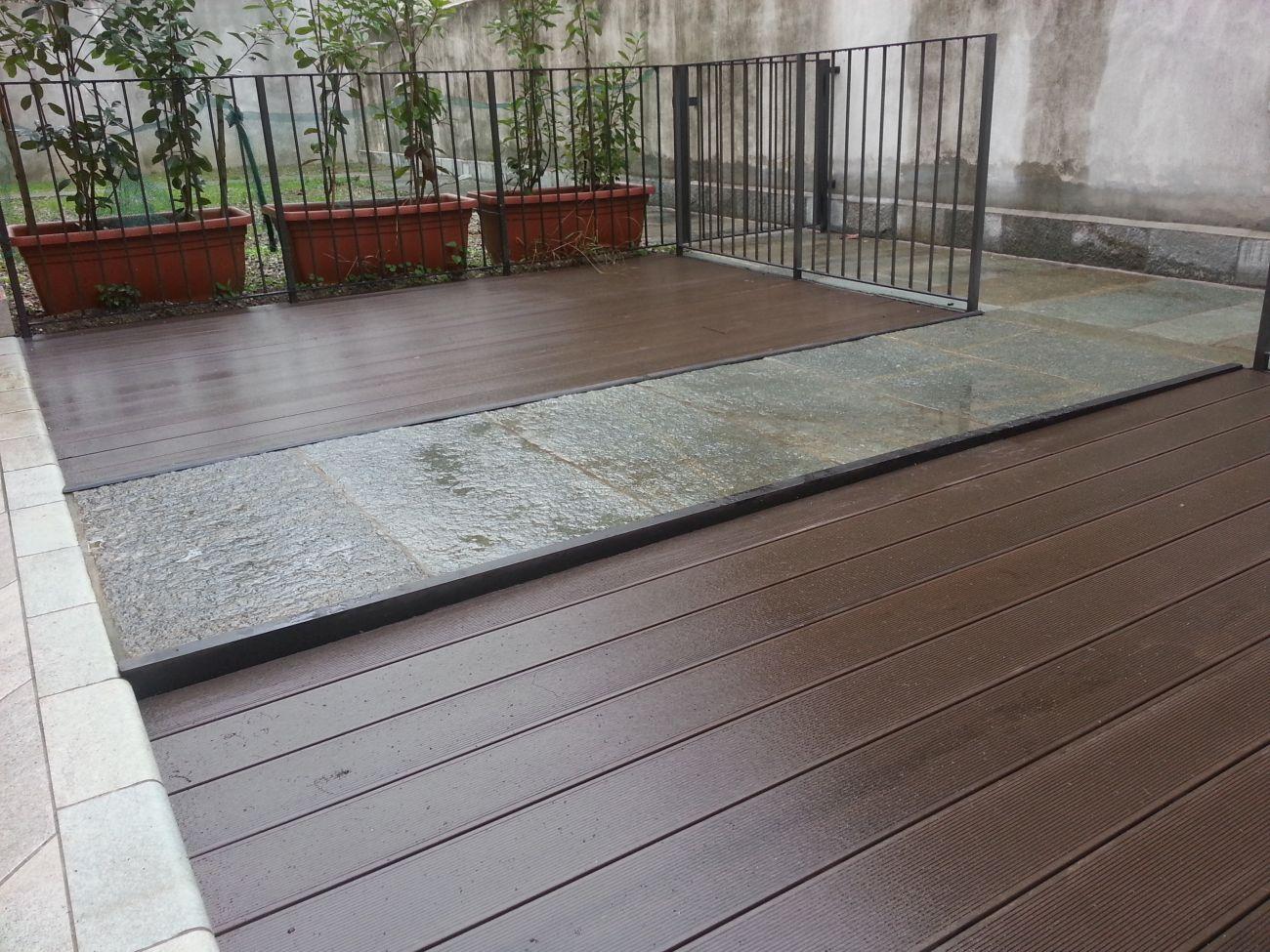 Terrazze in legno da esterno posa pavimenti in legno per esterni by fracaros with terrazze in - Pavimenti per esterno offerte ...